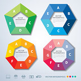 vector infographics set templates