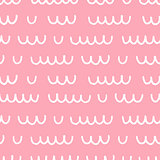 Seamless pattern with hand drawn waves.