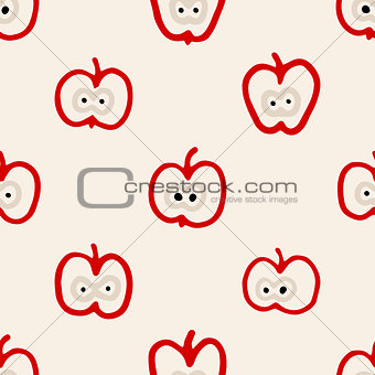 Abstract seamless pattern with apples.