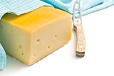edam cheese and knife