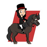 Dressage rider cartoon