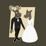 Moose wedding cartoon