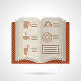 Brown menu flat color vector icon