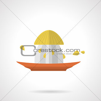 Citrus juicer flat color vector icon