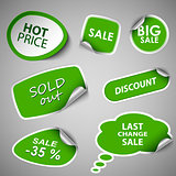 Green collection stickers sale discount template