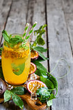 Passionfruit lemonade background
