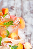 Peach lemonade background