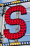 S letter circus neon sign