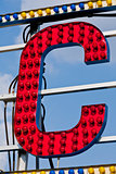 C letter circus neon sign