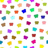 Seamless colorful butterfly pattern