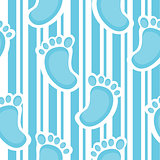 Seamless pattern of baby sole.