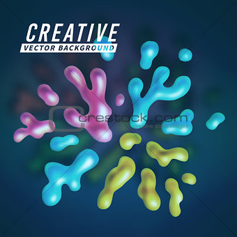 Abstract vector color splash background paint fluid colorful ink splatters. Isolated creative ink. liquid ink or paint for banners, cards, posters, annual reports and placards designs. vector illustration