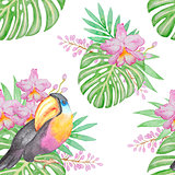 Tropical seamless pattern