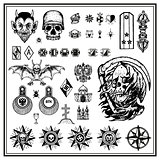 Russian criminal tattoos set