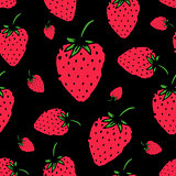 Strawberry seamless pattern for your design