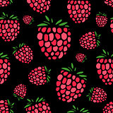 Raspberry seamless pattern for your design