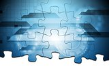 Hi-tech puzzle vector background