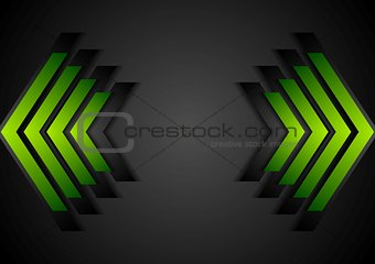 Green arrows geometry corporate background