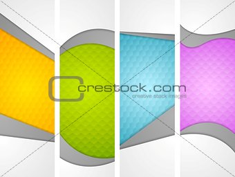 Abstract wavy corporate vertical banners