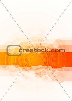Bright orange technology background