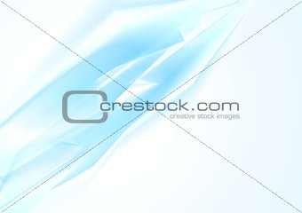 Abstract tech vector blue background