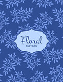 Blue floral seamless pattern.