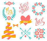 BIG Wedding graphic set