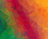 Triangle geometric colorful background