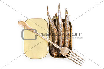 Grilled anchovies.