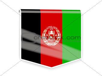 Flag label of afghanistan