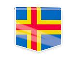 Flag label of aland islands