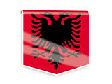 Flag label of albania