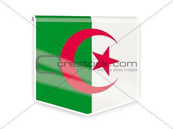 Flag label of algeria