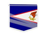 Flag label of american samoa