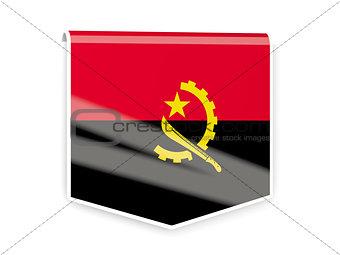 Flag label of angola