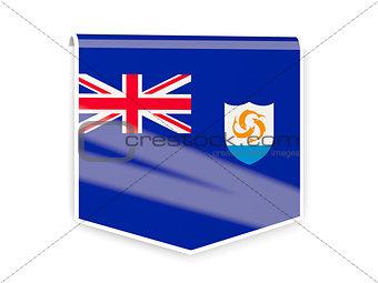 Flag label of anguilla