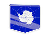 Flag label of antarctica