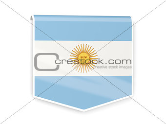 Flag label of argentina