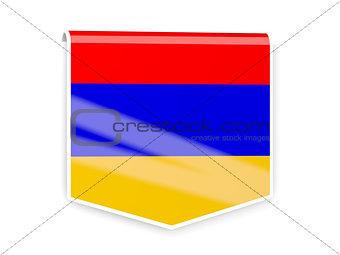 Flag label of armenia