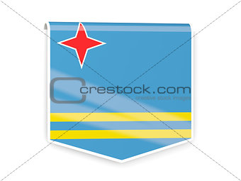 Flag label of aruba