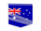 Flag label of australia