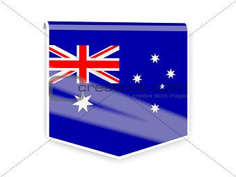 Flag label of australia