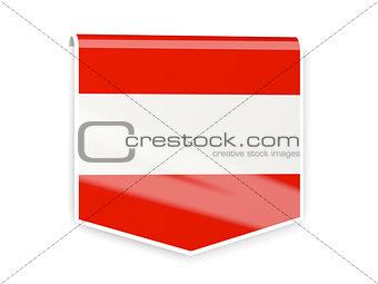Flag label of austria