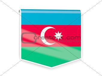 Flag label of azerbaijan