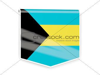 Flag label of bahamas