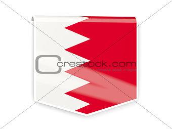 Flag label of bahrain