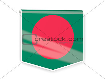 Flag label of bangladesh