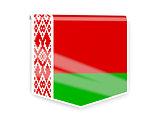Flag label of belarus