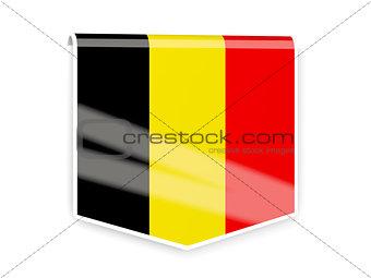 Flag label of belgium