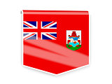 Flag label of bermuda